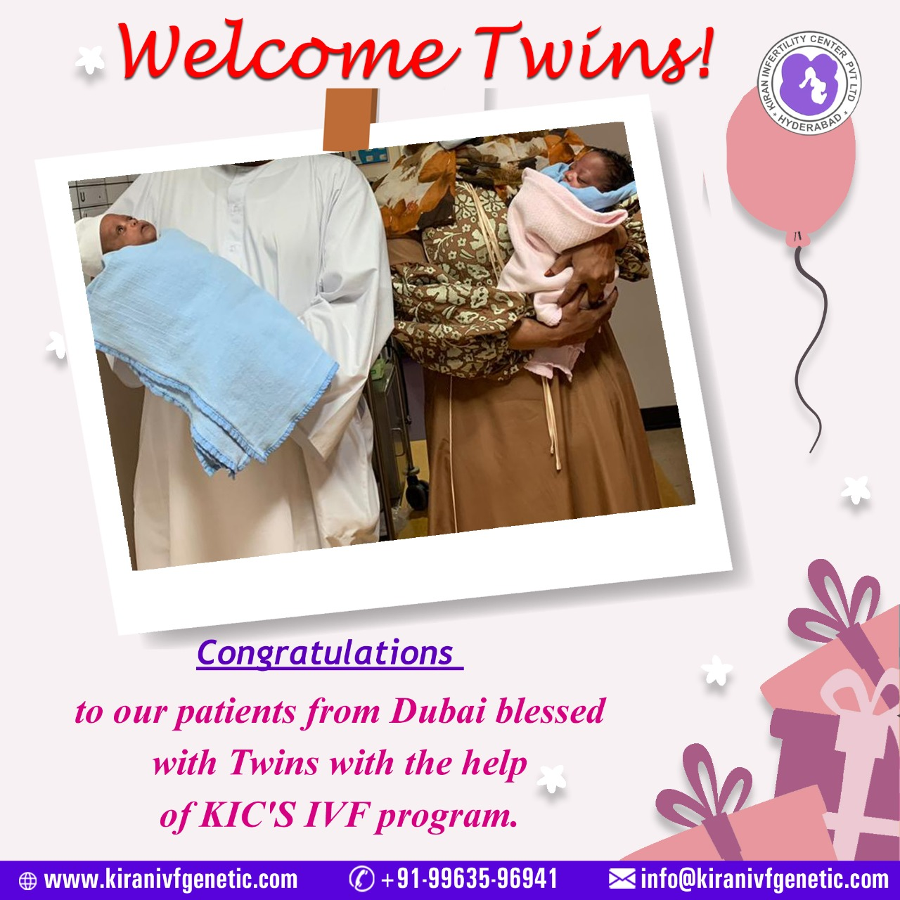 Dubai blessed with Twins